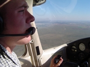 Cameorn flying above west Texas